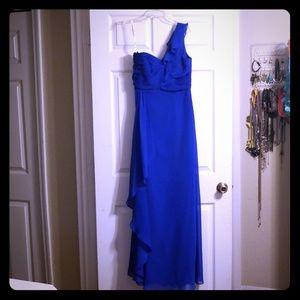 One shoulder bridesmaid's dress